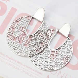 Kendra Scott Diane Silve Earrings Silver Filigree